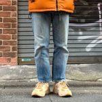 【リーバイス 505 ウォッシュドジーンズ レビュー】美しいテーパードシルエットが特徴の超定番モデル【サイズ感・コーデ術・価値】